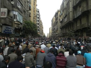 Why go to the mosque for jumma prayers when there is a perfectly good street. Cairo in revolt on a Friday. TGIF