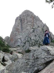 Abu Maryam looks up at the West Face of Girhimitin