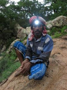 Abu Maryam models Black Diamond's latest 200 lumen head torch.