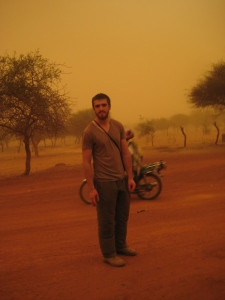 A typical hellish day during the Sahelian summer. The harmattan blowing from the south.