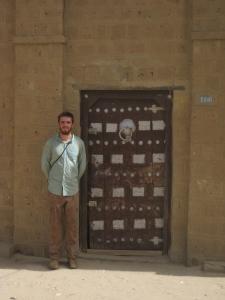 "At the house of one or other of the European explorers who ""discovered"" Timbuktu."
