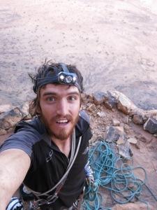 Bivouac ledge selfie.