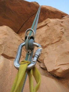 The first abseil to descend down the West Face