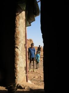 Inquisitive kids in the village of Garmi