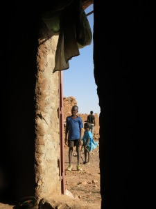 Curious kids in the village of Garmi
