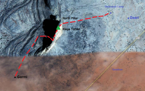 My planned village-to-village traverse of the Hand of Fatima massif