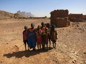 Children in the village of Garmi