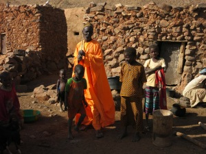In orange - Gourou Abu Amadou (Amadou's father), chief of the village of Garmi