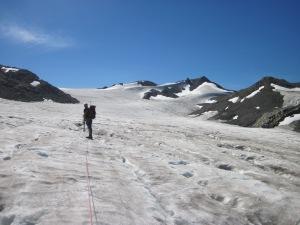 Simon on the Helm Glacier