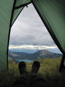 Green grass to sleep on in the heart of the mountains