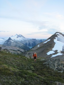 Starting up the Gentian Traverse